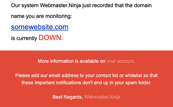 Email Notification