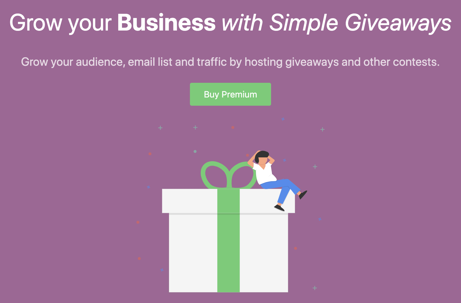 WP Simple Giveaways Call-to-Action Buttons