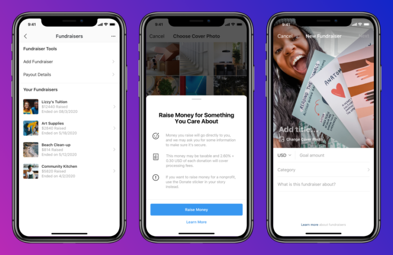 Facebook Brings Small Business Fundraisers to Instagram