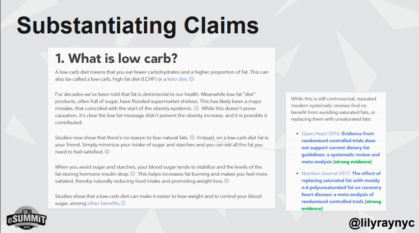 Substantiating claims