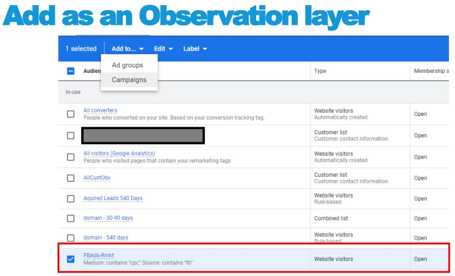 Add as an Observation layer
