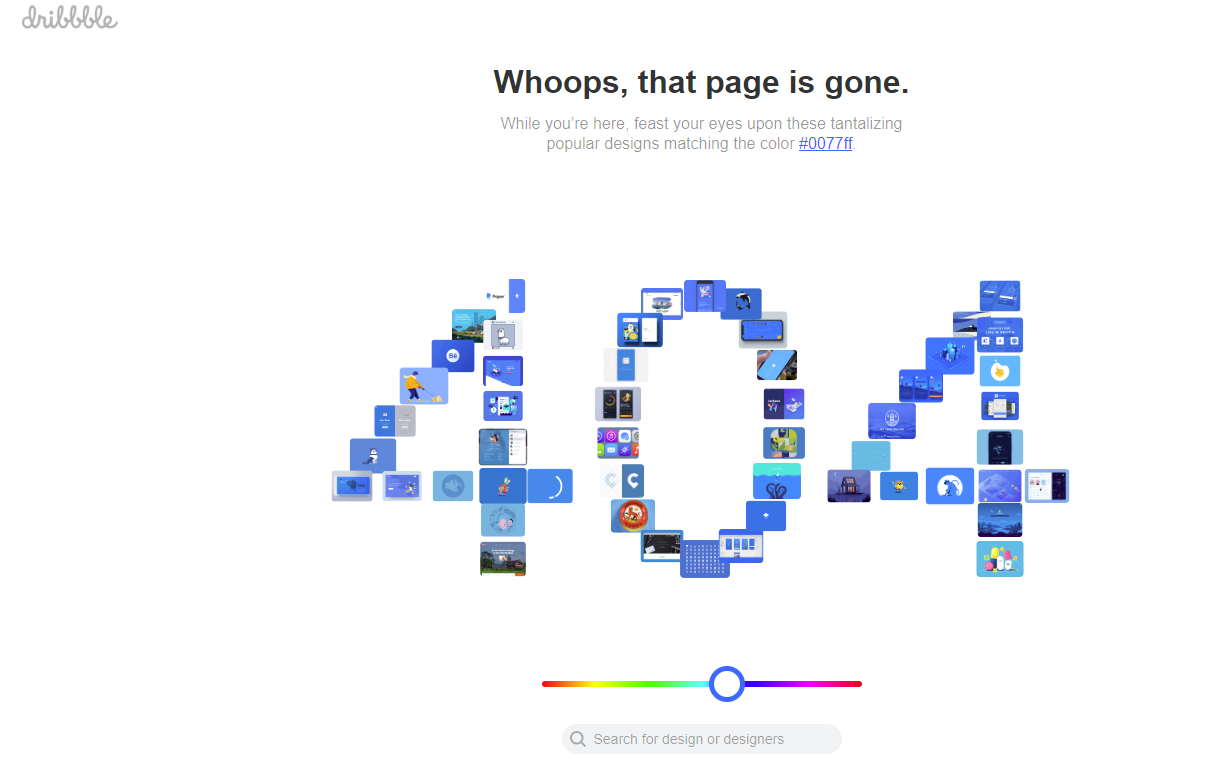 404 page dribble