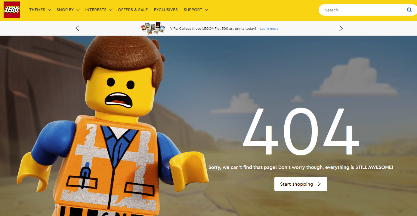 404 page lego
