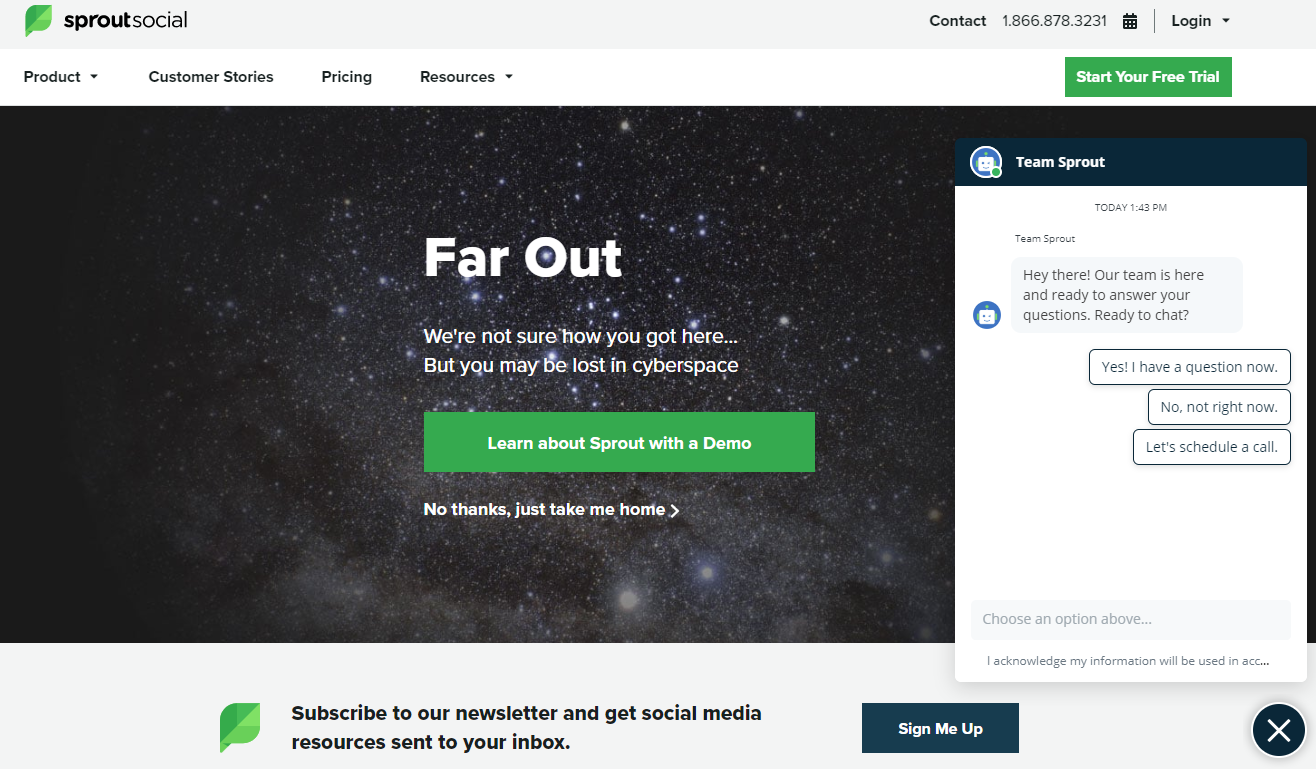 404 page sprout social