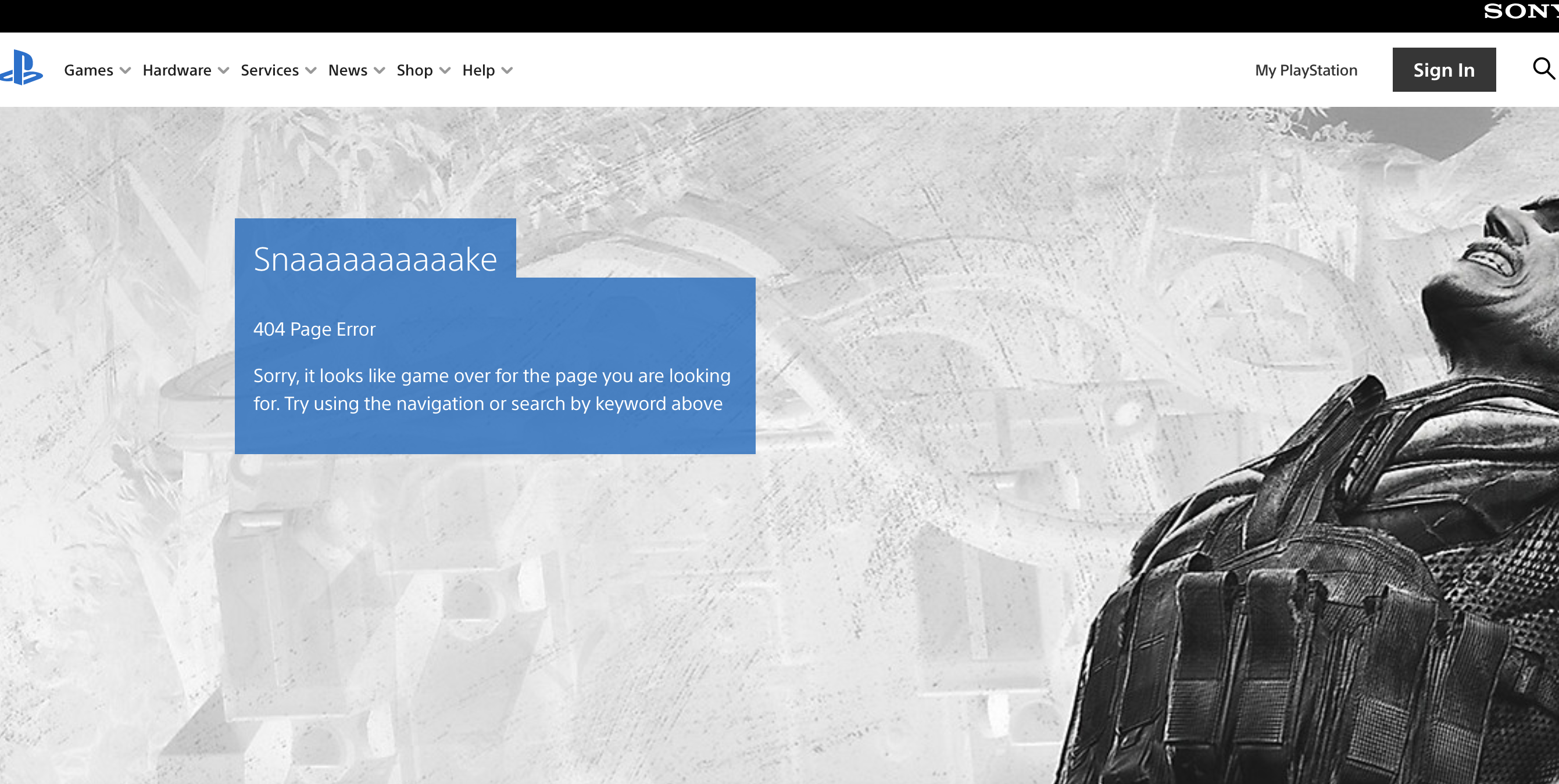 playstation 404 page