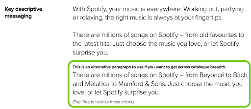 Spotify-partner-messaging-guide-example