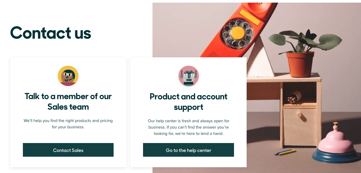 contact us page zendesk