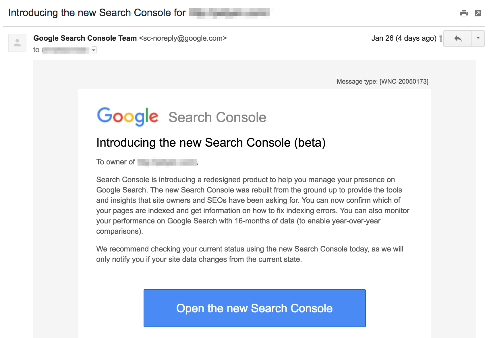 new-google-search-console-email